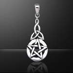 PENTACLE WITH KNOT PENDANT