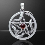PENTACLE W/WEAVING SNAKE/GEM
