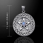 CELTIC PENTACLE WITH STONE