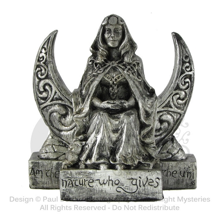 MOON GODDESS STATUE SMALL SILVER FINISH