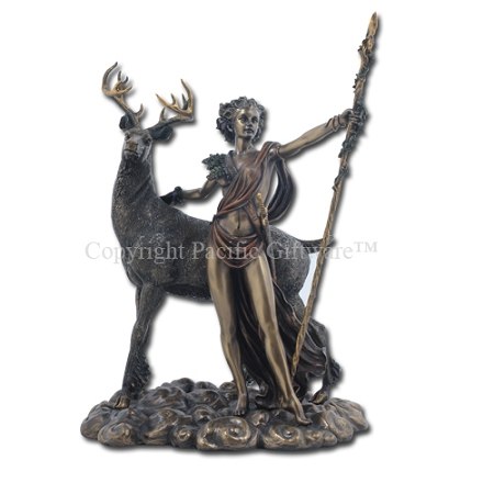 Diana/Ariemis with Stag - Bronze