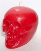 RED SKULL CANDLE 3.5