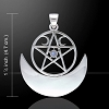 HECATE'S MOON PENTACLE with gemstone