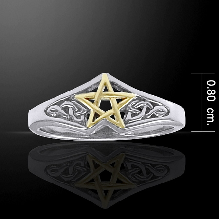 TWO TONE CELTIC STAR RING