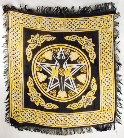 Pentagram Goddess Altar Cloth 18 x 18