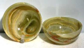 Green Onyx Offering Bowl