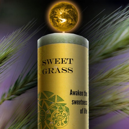 Sweetgrass World Magick Candle