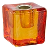 Mini Glass Candle Holder Orange