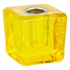 Mini Glass Candle Holder Yellow