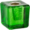 Mini Glass Candle Holder Green
