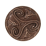 Triple Goddess Triskelle Plaque