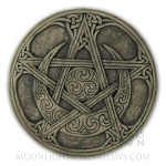 MOON PENTACLE PLAQUE (Stone Finish) SM