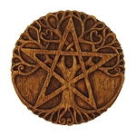 TREE PENTACLE PLAQUE MED (Wood Finish)