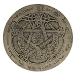 MOON PENTACLE PLAQUE (Stone Finish)