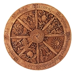 WHEEL OF THE YEAR PLAQUE Large (Wood Finish)