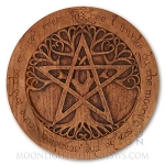 TREE PENTACLE PLAQUE Lg (wood finish)