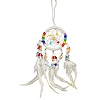 Dreamcatcher Beaded Chakras White 2.5