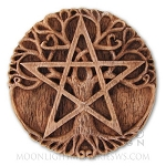 TREE PENTACLE PLAQUE SM (wood finish)