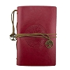 Leather Tree of Life Journal - Red