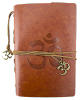 Leather Om Journal - BROWN