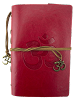 Leather Om Journal - RED