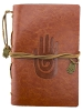 Leather Hamsa Journal - Brown