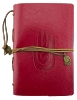 Leather Hamsa Journal - Red