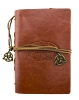 Leather Claddagh Journal - Brown