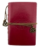 Leather Claddagh Journal - Red
