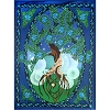 Cotton Single Tapestry Tree of Life
