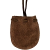 Brown Suede Pouch w/ strap