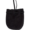 Black Suede Pouch Rounded w/strap