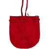 Red Suede Medicine Bag with strap