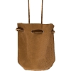 Soft Leather Medicine Pouch - Natural