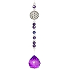 Hanging Crystal w/ Cut Glass Bead - Flower of Life