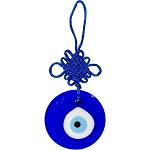Glass Evil Eye Talisman Round