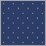MOON & STARS ALTAR/TAROT CLOTH 32