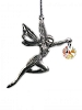 SUNCATCHER: Ariel Fairy (Hanging pewter fairy sculpture with 14mm crystal)