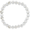 Natural Quartz Crystal Elastic Bracelet 8mm Round Beads
