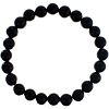 Black Onyx Elastic Bracelet 8mm Round Beads