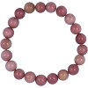 Rhodonite Elastic Bracelet 8mm Round Beads