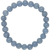 Angelite Elastic Bracelet 8mm Round Beads