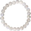 Rainbow Moonstone Bead Bracelet 8mm