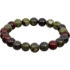 DRAGON'S BLOOD JASPER BEAD BRACELET