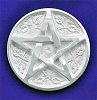 Pentacle Altar Tile Silver Plated - 3