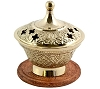 CARVED BRASS BURNER 3.5