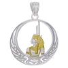 Gold Plated Egyptian Pendant Isis-Healing