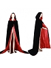 Black Velvet Cloak Red Satin Lining