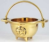 SMALL BRASS CAULDRON