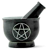 3-Pentacle Soapstone Mortar & Pestle - 3